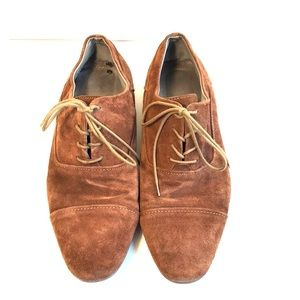 Calvin Klein Irah Brown Suede Oxfords 10.5 GUC